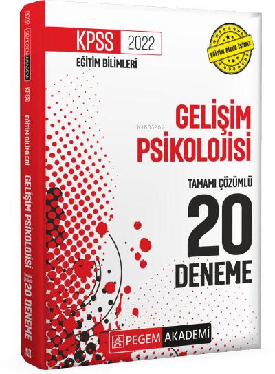 2022 KPSS Eğitim Bilimleri Gelişim Psikolojisi 20 Deneme