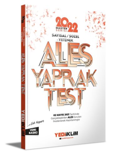 2022 Master Serisi Ales Sayısal-Sözel Yetenek Çek Kopart Yaprak Test