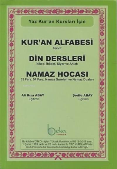 Kur'an Alfabesi Tecvitli, Din Dersleri, Namaz Hocası ( Yeşil Elifba );Yaz Kur'an Kursları İçin