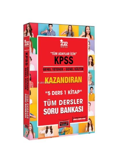 2022 KPSS Genel Yetenek Genel Kültür 5 Ders 1 Kitap Kazandıran Tüm Dersler Soru Bankası