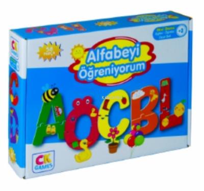 Alfabeyi Öğreniyorum Okul Öcesi Oyun Seti 3+yaş;Eğitici Öğretici 58 Parça Puzzle Oyun Seti
