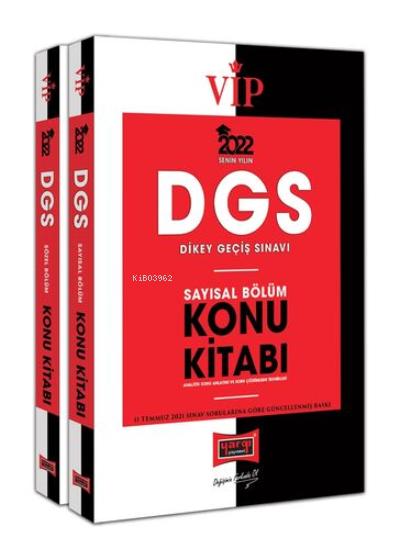 DGS 2022 VIP Sayısal - Sözel Bölüm Konu Kitabı Seti