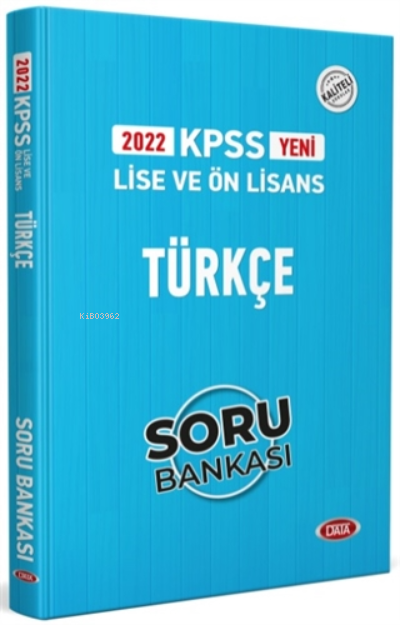 2022 KPSS Lise ve Ön Lisans Türkçe Soru Bankası