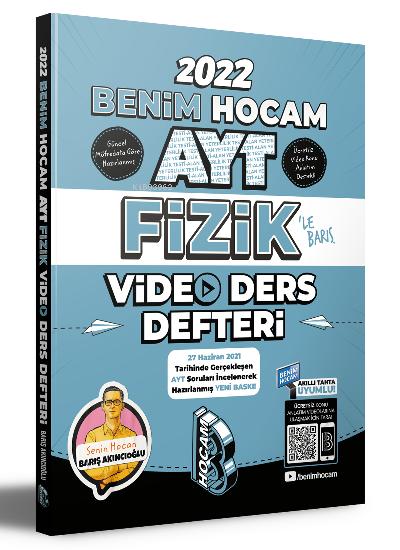 Benim Hocam Yayınları 2022 AYT Fizik Video Ders Defteri