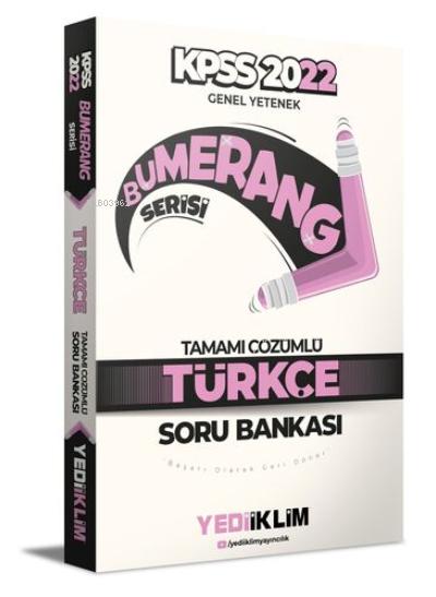 2022 KPSS Genel Yetenek Bumerang Türkçe Tamamı Çözümlü Soru Bankası