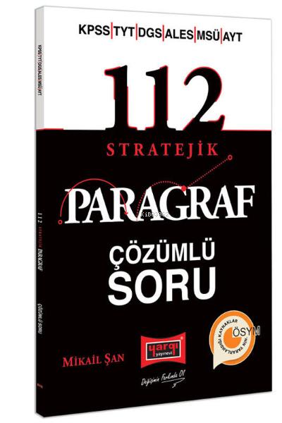 KPSS YKS DGS ALES MSÜ 112 Stratejik Çözümlü Soru Bankas