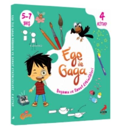 Ege ile Gaga Boyama ve Sanat Etkinlikleri (4 Kitap)