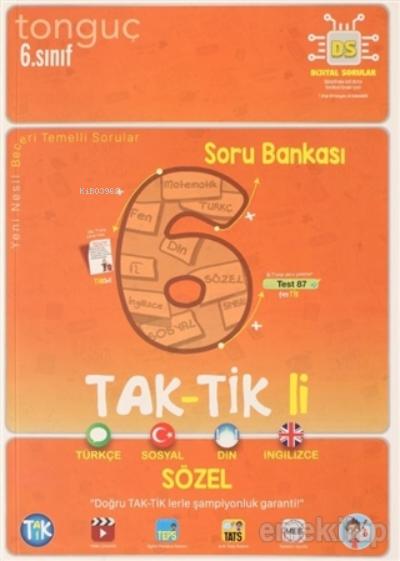 6. Sınıf Tak-Tik li Sözel Soru Bankası