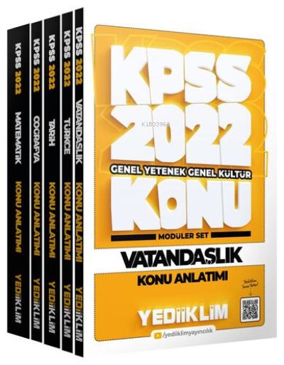 2022 KPSS Genel Yetenek Genel Kültür Konu Anlatımlı Modüler Set