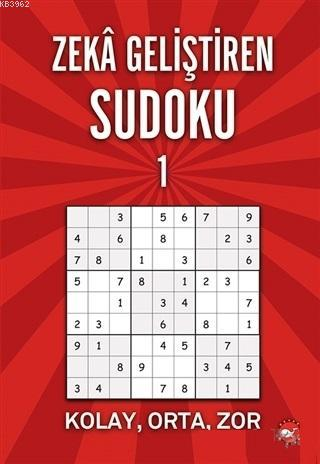Zeka Geliştiren Sudoku 1; Kolay - Orta - Zor