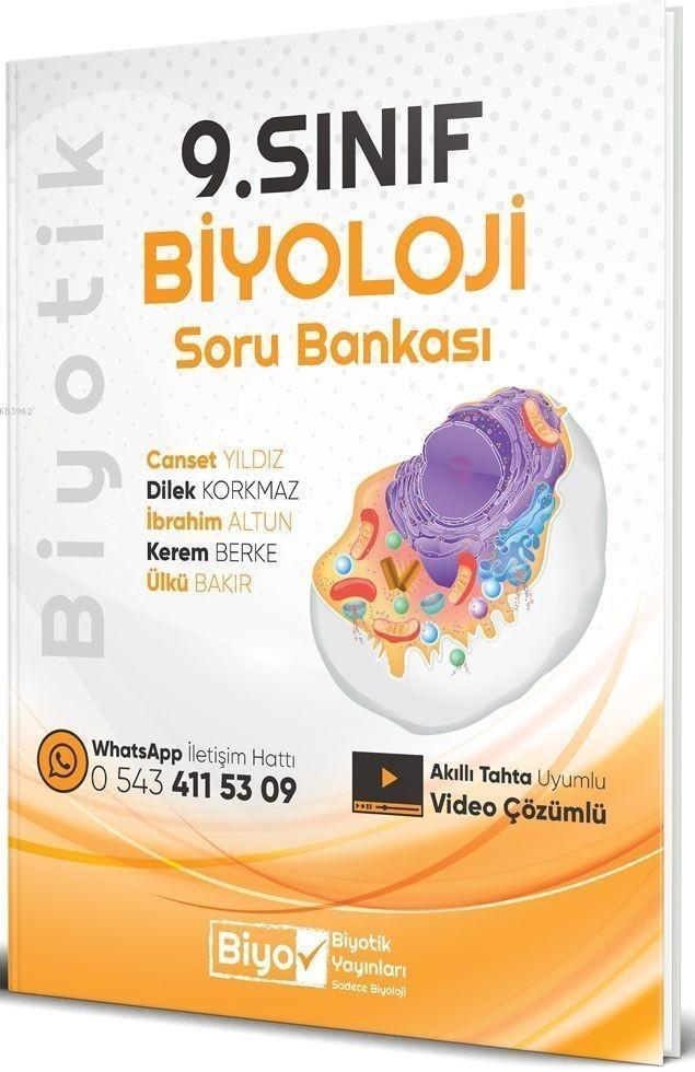 Biyotik Yayınları 9. Sınıf Biyoloji Soru Bankası Biyotik