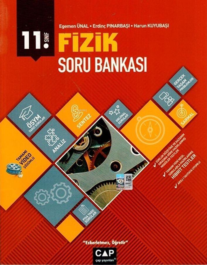 Çap Yayınları 11. Sınıf Anadolu Lisesi Fizik Soru Bankası Çap