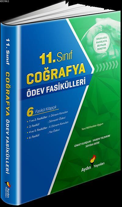 Aydın Yayınları 11. Sınıf Coğrafya Ödev Fasikülleri Aydın