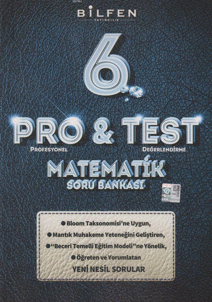 Bilfen Yayınları 6. Sınıf Matematik ProTest Soru Bankası Bilfen