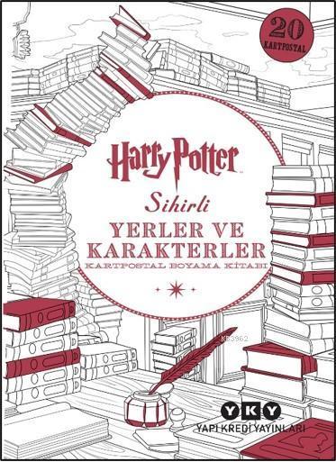 Harry Potter Sihirli Yerler ve Karakterler; Kartpostal Boyama Kitabı