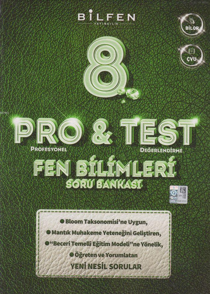 Bilfen Yayınları 8. Sınıf LGS Fen Bilimleri ProTest Soru Bankası Bilfen