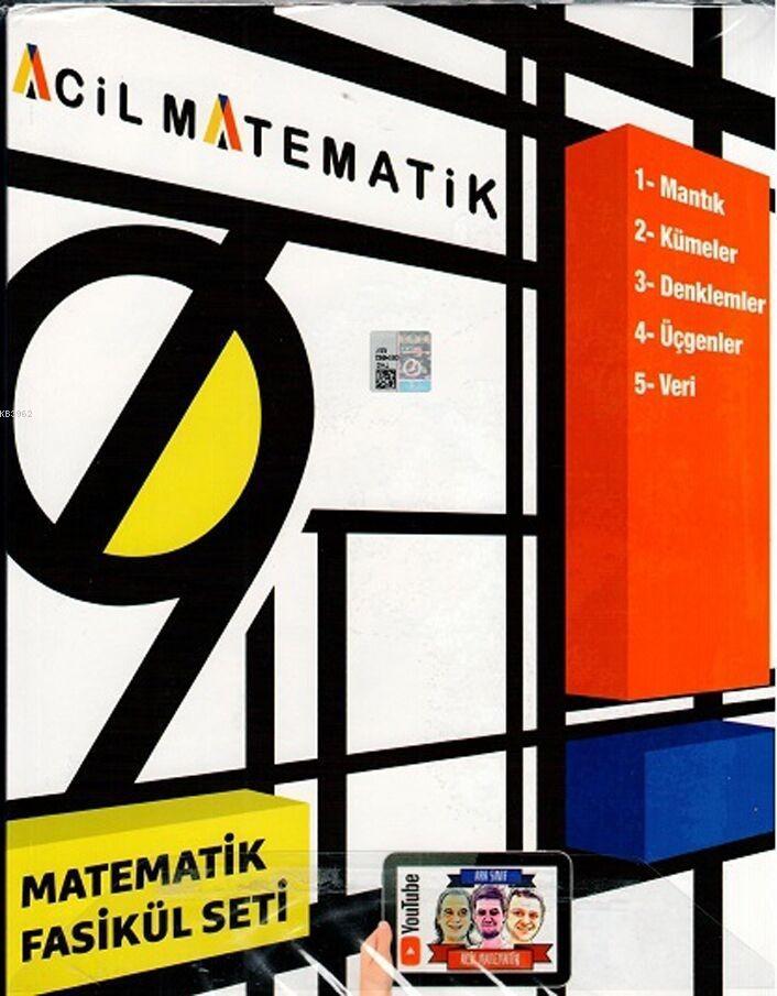 Acil Yayınları 9. Sınıf Acil Matematik 6 lı Fasikül Seti Acil