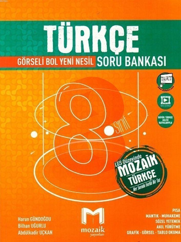 Mozaik Yayınları 8. Sınıf Türkçe Soru Bankası Mozaik