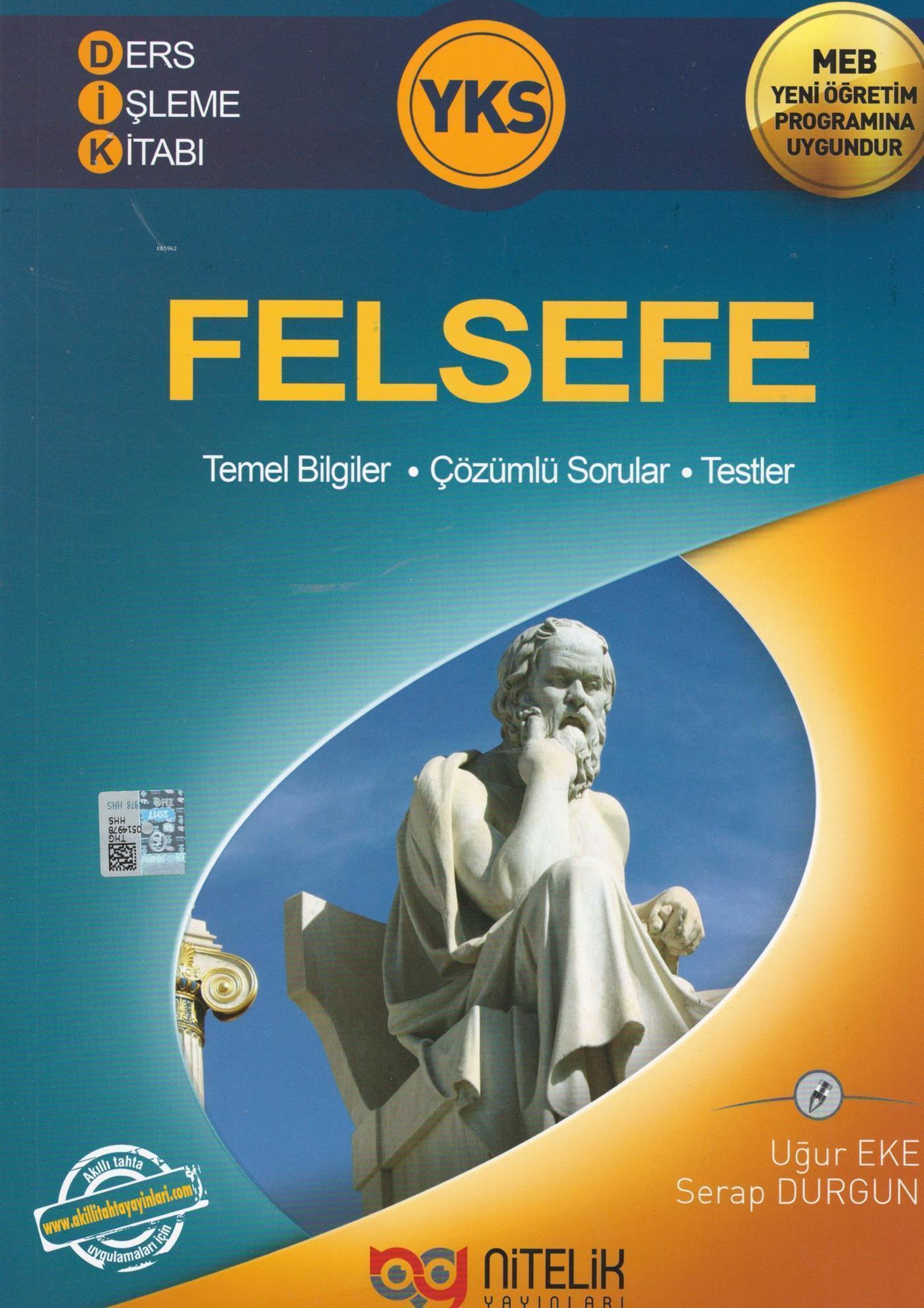 Nitelik Yayınları YKS Felsefe  Ders İşleme Kitabı