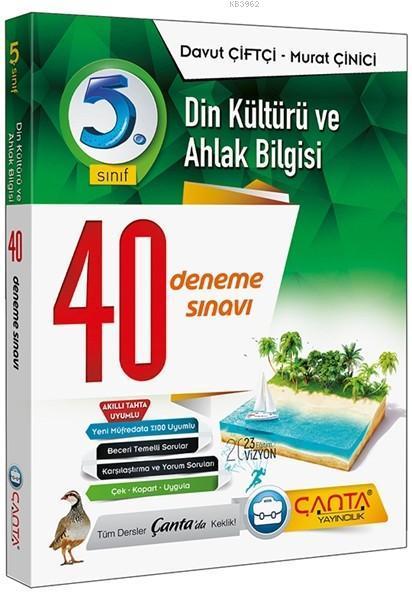 Çanta Yayınları 5. Sınıf Din Kültürü ve Ahlak Bilgisi 40 Deneme Sınavı Çanta