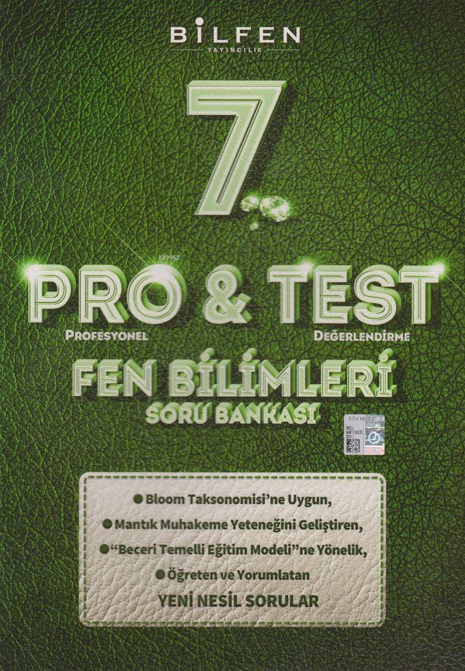Bilfen Yayınları 7. Sınıf Fen Bilimleri ProTest Soru Bankası Bilfen