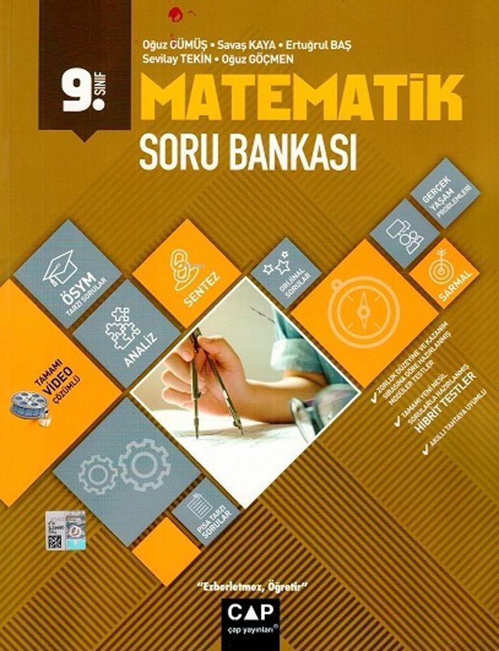 Çap Yayınları 9. Sınıf Anadolu Lisesi Matematik Soru Bankası Çap