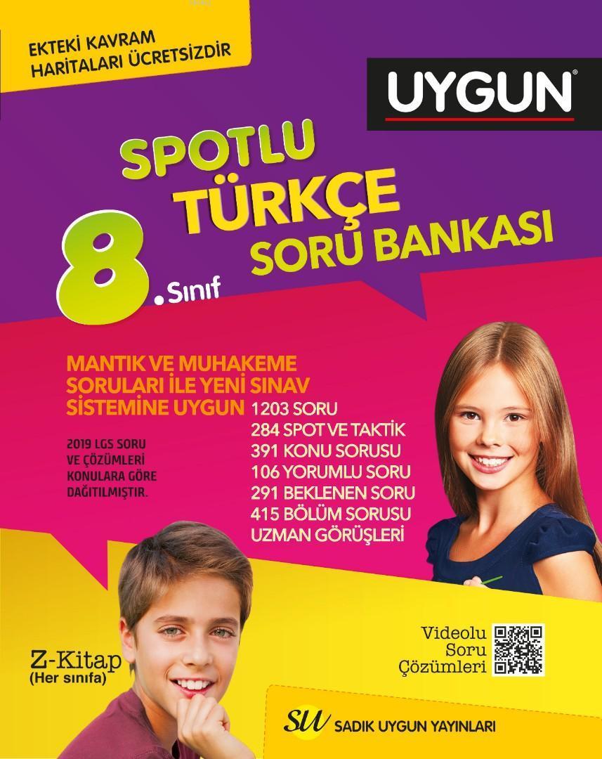 Sadık Uygun Yayınları 8. Sınıf LGS Türkçe Soru Bankası Sadık Uygun