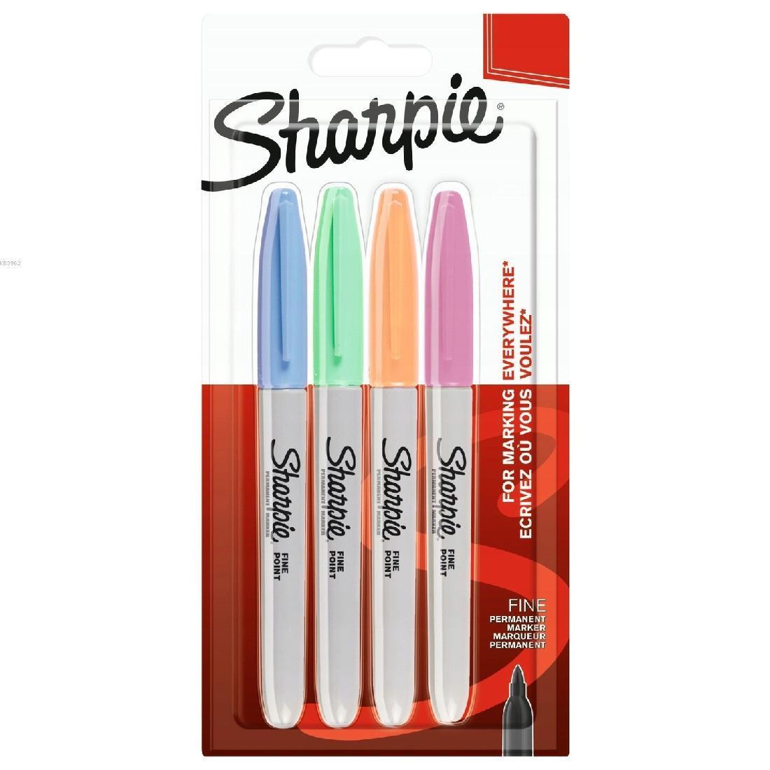Sharpie 2065402 Fine Per. Markör Pastel Renk 4'lü