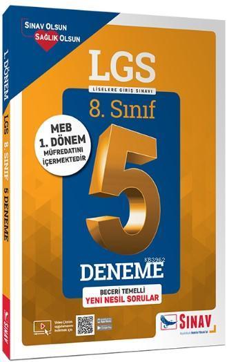 Sınav Yayınları 8. Sınıf 1. Dönem LGS Çözümlü 5 Deneme Sınav