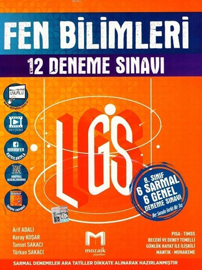 Mozaik Yayınları 8. Sınıf LGS Fen Bilimleri 12 Deneme Sınavı Mozaik