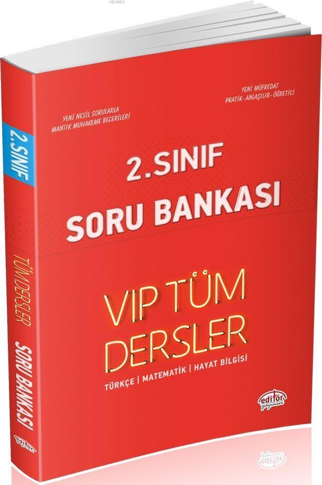 Editör Yayınları 2. Sınıf Tüm Dersler VIP Soru Bankası Kırmızı Kitap Editör