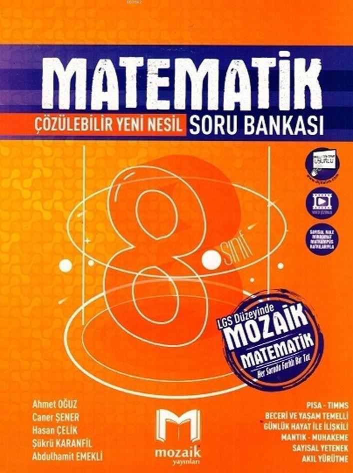 Mozaik Yayınları 8. Sınıf Matematik Soru Bankası Mozaik