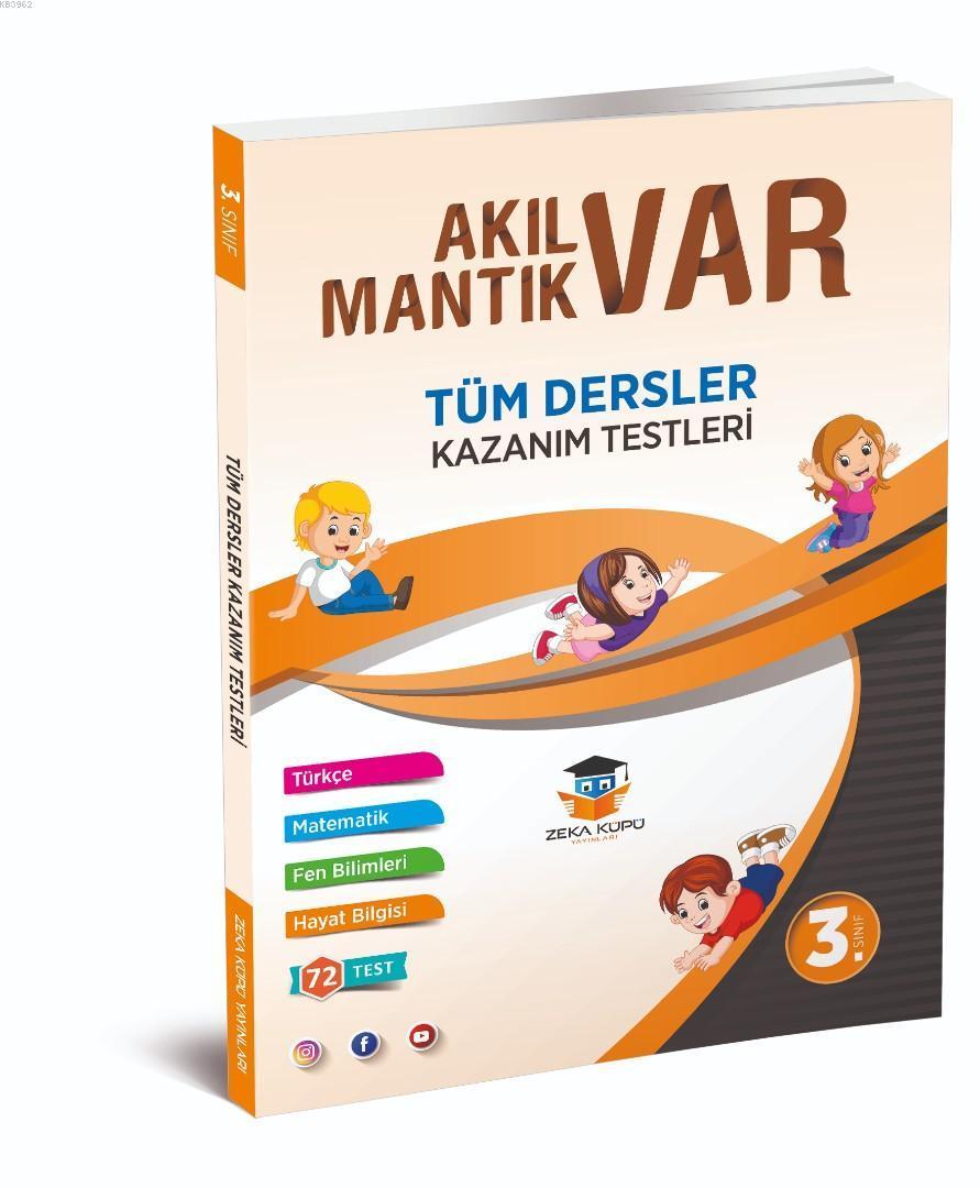 Zeka Küpü Yayınları 3. Sınıf Tüm Dersler Akıl Var Mantık Var Kazanım Testleri Zeka Küpü