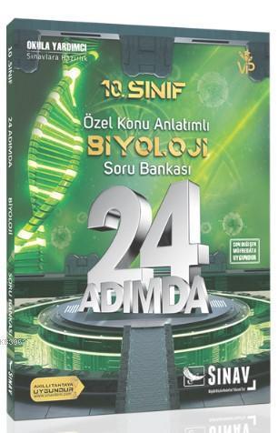 Sınav Dergisi Yayınları 10. Sınıf Biyoloji 24 Adımda Özel Konu Anlatımlı Soru Bankası Sınav Dergisi