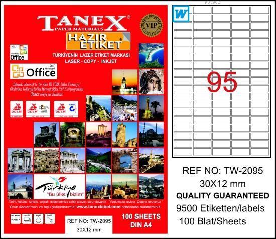 Tanex Laser Etiket Tw-2095