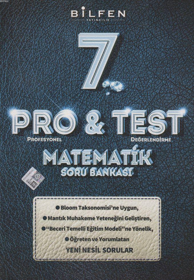 Bilfen Yayınları 7. Sınıf Matematik ProTest Soru Bankası Bilfen