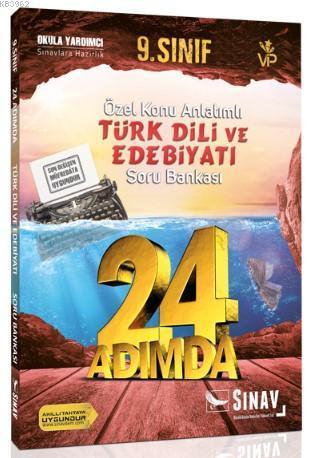 Sınav Dergisi Yayınları 9. Sınıf Türk Dili ve Edebiyatı 24 Adımda Özel Konu Anlatımlı Soru Bankası Sınav Dergisi
