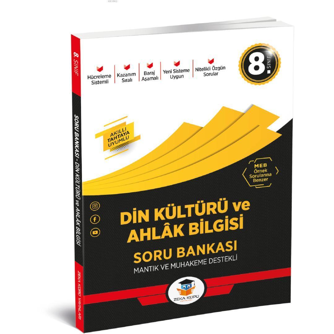 Zeka Küpü Yayınları 8. Sınıf LGS Din Kültürü ve Ahlak Bilgisi Soru Bankası Zeka Küpü