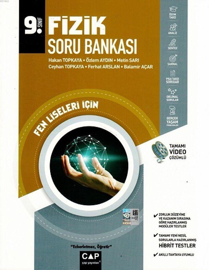 Çap Yayınları 9. Sınıf Fen Lisesi Fizik Soru Bankası Çap