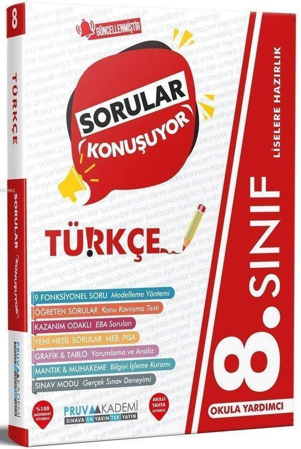 Pruva 8.Sınıf LGS Türkçe Sorular Konuşuyor 2021