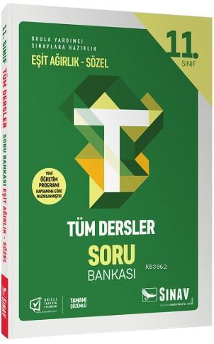 Sınav Dergisi Yayınları 11. Sınıf Tüm Dersler Eşit Ağırlık Sözel Soru Bankası Sınav Dergisi