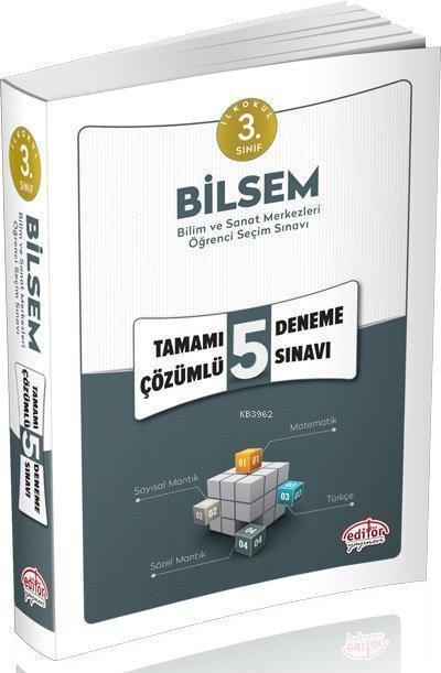 Editör Yayınları 3. Sınıf BİLSEM Tamamı Çözümlü 5 Deneme Sınavı Editör