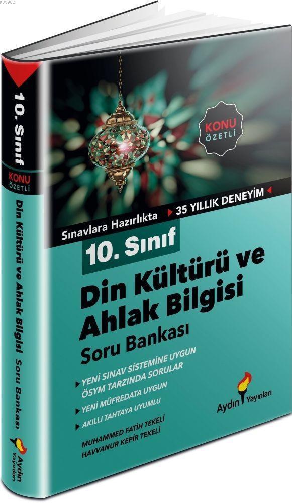 Aydın Yayınları 10. Sınıf Din Kültürü ve Ahlak Bilgisi Konu Özetli Soru Bankası Aydın