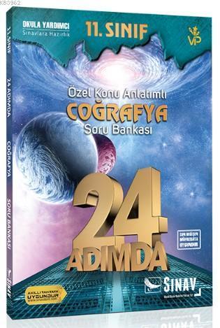 Sınav Dergisi Yayınları 11. Sınıf Coğrafya 24 Adımda Özel Konu Anlatımlı Soru Bankası Sınav Dergisi