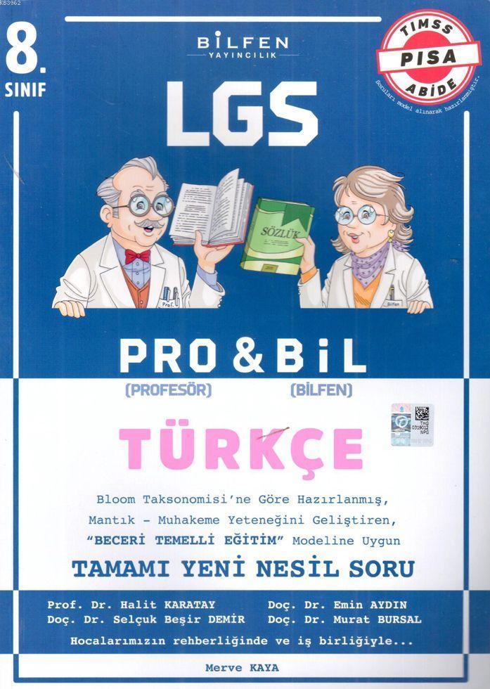 Bilfen Yayınları 8. Sınıf LGS Türkçe Probil Soru Bankası Bilfen