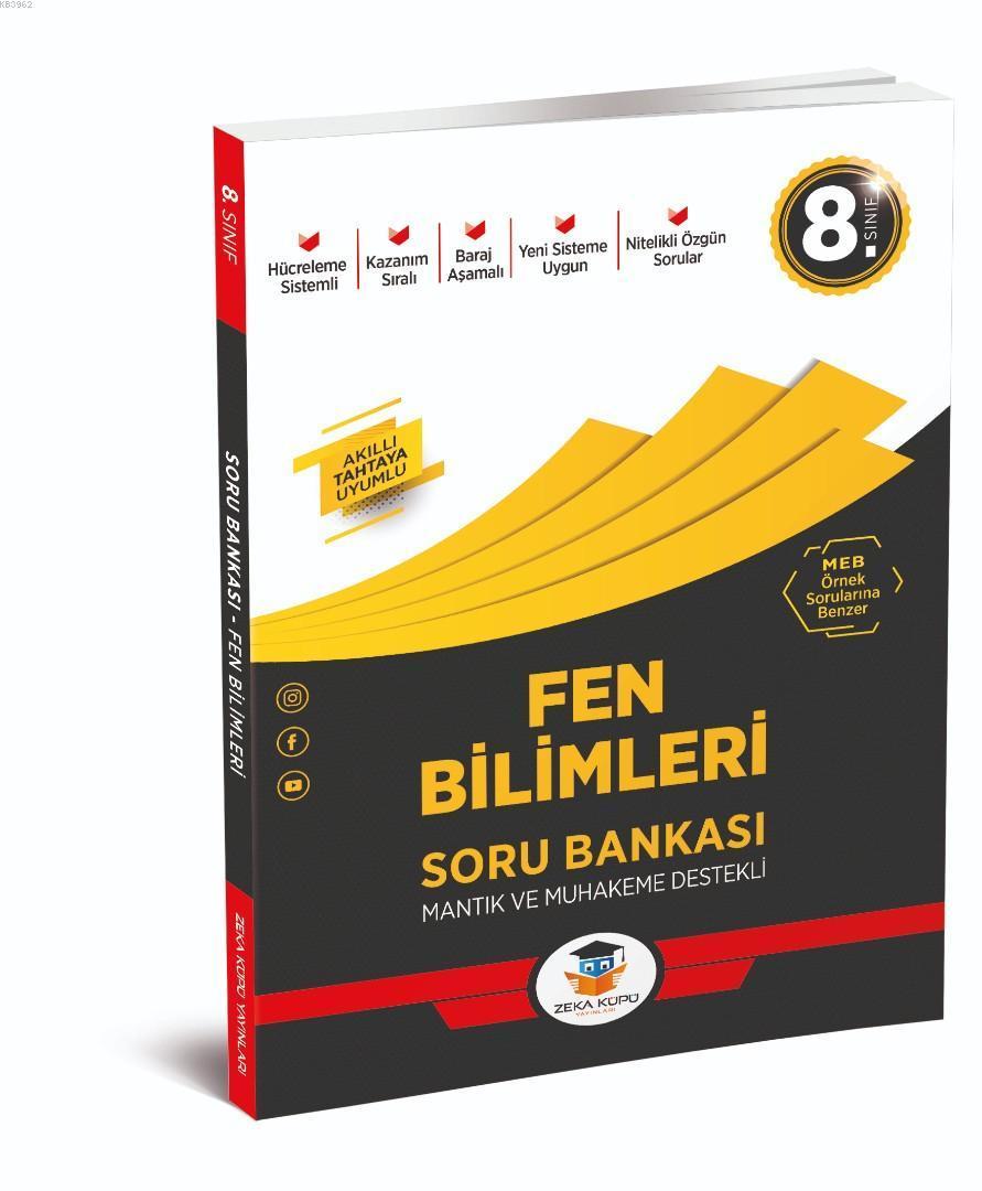 Zeka Küpü Yayınları 8. Sınıf LGS Fen Bilimleri Soru Bankası Zeka Küpü