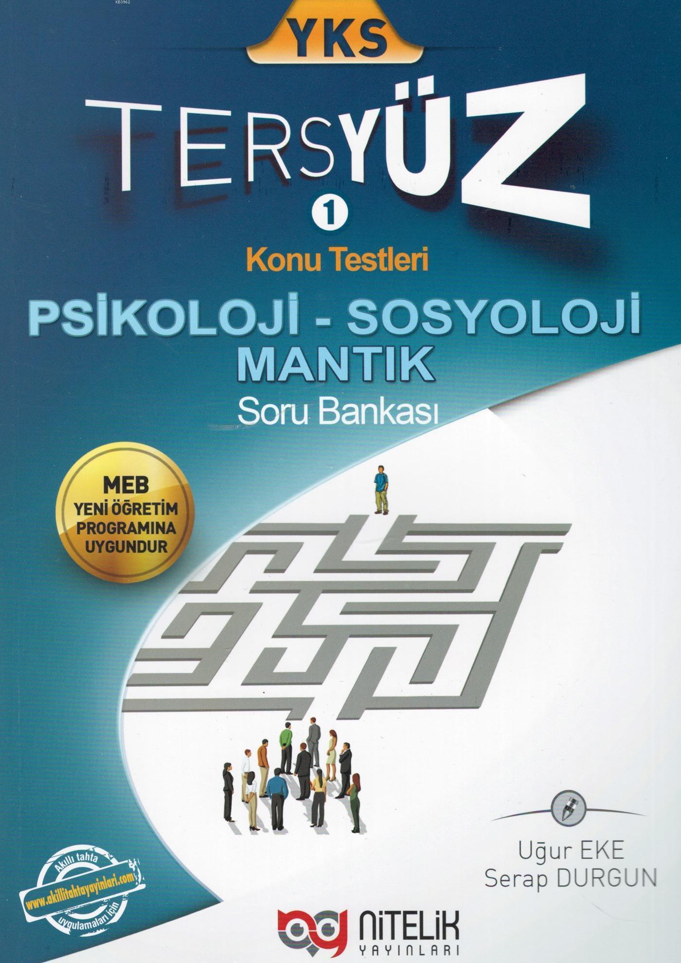 Nitelik Yayınları YKS Psikoloji Sosyoloji Mantık Tersyüz Soru Bankası Nitelik