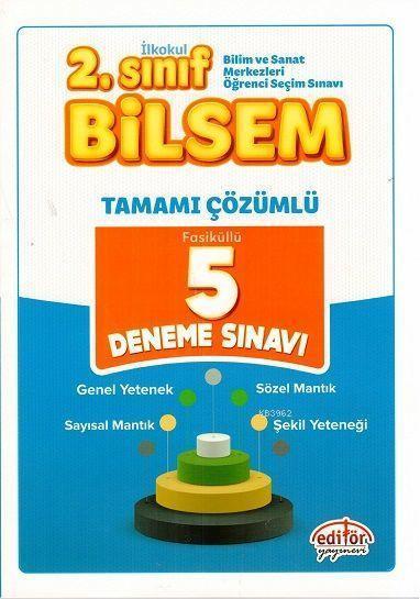 Editör Yayınları 2. Sınıf Bilsem Tamamı Çözümlü 5 Deneme Sınavı Editör