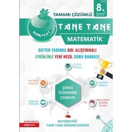 Nartest Yayınları 8. Sınıf LGS Matematik Defter Tadında Tane Tane Soru Bankası Nartest