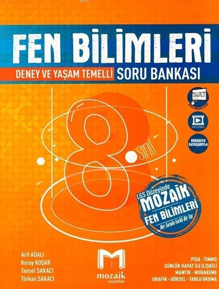 Mozaik Yayınları 8. Sınıf Fen Bilimleri Soru Bankası Mozaik